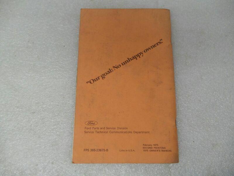 BOBCAT    1975 Owners Manual 17504