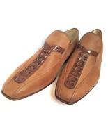 Men Tan Genuine Crocodile Leather Shoes Hornback Skin Handmade Moccasin ... - $179.99+