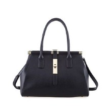 Designer Fashion Black Leather Medium Shoulder HandBag Crossbody Bag FRE... - $89.90