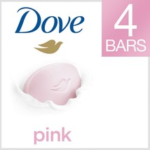 Dove Pink/Rosa Beauty Bar 4 oz 1/4 Moisturizing cream -4 bars -  soap - $7.91