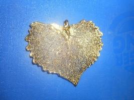 VINTAGE REAL LEAF GOLD DIPPED PENDANT - $24.63