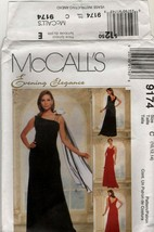 McCall' 9174 Evening Elegance Classic bridal party Gown sewing  Pattern ... - $3.95
