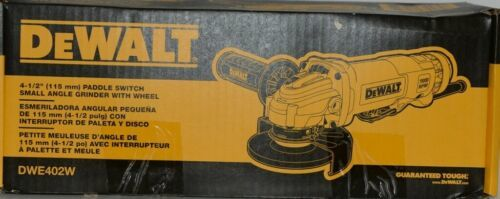 DeWalt DWE402W 4 1/2 inch Paddle Switch Small Angle Grinder with Wheel Corded
