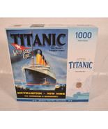 Masterpieces Puzzle Titanic 1000 Piece Jigsaw White Star Line Poster wit... - $28.71