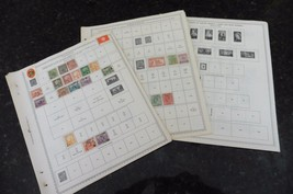 F46 Lot of Minkus Stamp Pages Tunisia Transvaal Union of South Africa w/... - $11.63