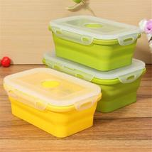 Foldable Cereal Fruit Food Storage Container Bento Picnic Lunch Box Kitc... - $16.99