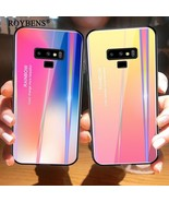 Roybens® Samsung Galaxy Note 9 Tempered Glass Case TPU Edge Gradient Col... - $6.38