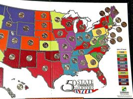 50 State Quarters Collector's Map and Coins AA19-CN19Q6022 image 4