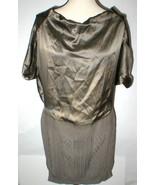 New Womens M 6 NWT Dress 3 Designer Patrizia Pepe Firenze Brown 100% Sil... - $1,375.00