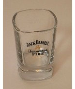 Jack Daniel's Tennessee Fire Square Shot Glass Heavy Thick Bottom - $5.93