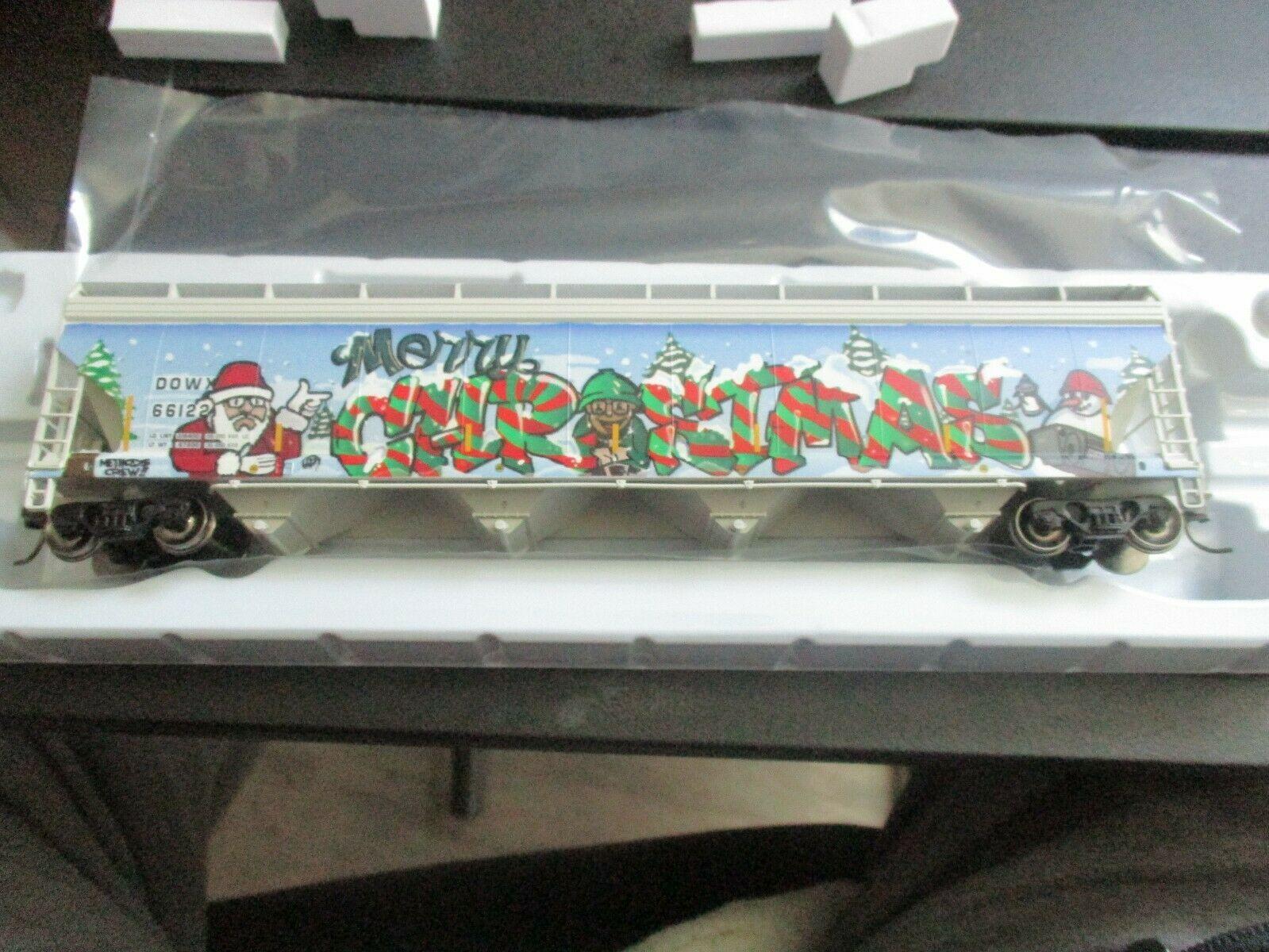 Atlas # 20006330 (Christmas Graffiti) 5800 Plastics Hopper DOWX 66122 HO-Scale