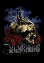 Scorpions Poster Flag Skull And Roses - $14.99