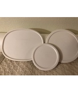 Corningware Lid Replacement Set of Three, White F-12-PC; F-5-PC; F-16-PC - $15.00