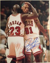 Dennis Rodman Autographed Chicago Bulls 16x20 Photo 7 Tristar Authenticated - £36.95 GBP