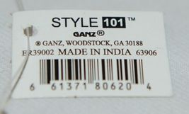 Ganz Brand ER39002 Style 101 Chevron Design Beige Tan Pink Zipper Makeup Bag image 7