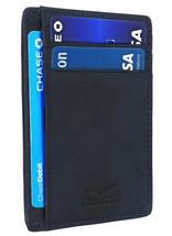 Front Pocket Slim Wallet For Men Genuine Leather RFID Blocking 6 Card Holder … - $22.09