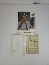 Vogue Attitudes CLYNE Designer Pattern 2743 Jacket Skirt Pants 8 10 12 Light Cut - $21.99