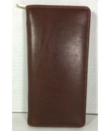 Visconti Original Leather Brown Zippered Travel Wallet Removable Wrist S... - $53.34