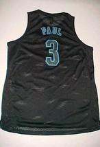 Chris Paul #3 New Orleans Hornets NBA adidas Black Blue Swingman Jersey XL - $69.29