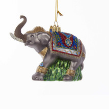 Fancy Glass Elephant Ornament - $24.95