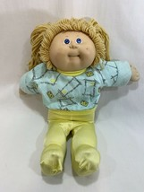 Vtg 1986 Coleco Cabbage Patch Kids Girl Doll Gold Blonde Hair w/Outfit #8 HM - $19.79