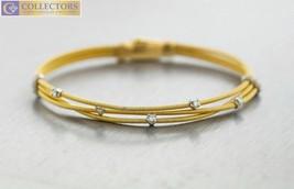 Ladies Marco Bicego 18K 750 Yellow Gold 0.30ctw Diamond Multi-Strand Bra... - $2,849.00