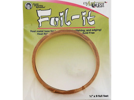 USArtQuest Foil-It, Real Metal Tape for Bordering, Embellishing, Edging