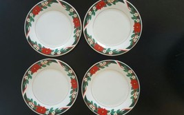 Deck The Halls Christmas Dessert Plates Tiensha... - $18.50