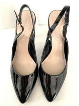 FRANCO SARTO Harla Black Patent Leather Slingback Pumps Heels SZ 8.5M image 3