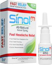 Sinol Headache Relief Homeopathic Nasal Spray w/Capsaicin Relief in Minu... - $13.95