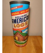 Halsam Original Axe Hewn Square American Logs Pre Lincoln Logs - $35.64