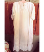 Baby White Gown with Under Slip with lace trim - $35.00