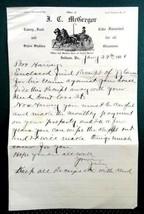 1908 antique LETTER HARVEY,CARSON,McGREGOR debt deed house payment INDIA... - $34.95
