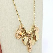 18K YELLOW ROSE GOLD NECKLACE, MIRACULOUS MEDAL, HEART, DROP, DISC, PENDANTS image 3