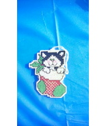 Kitten in Stocking Cross Stitch Ornament - $4.00