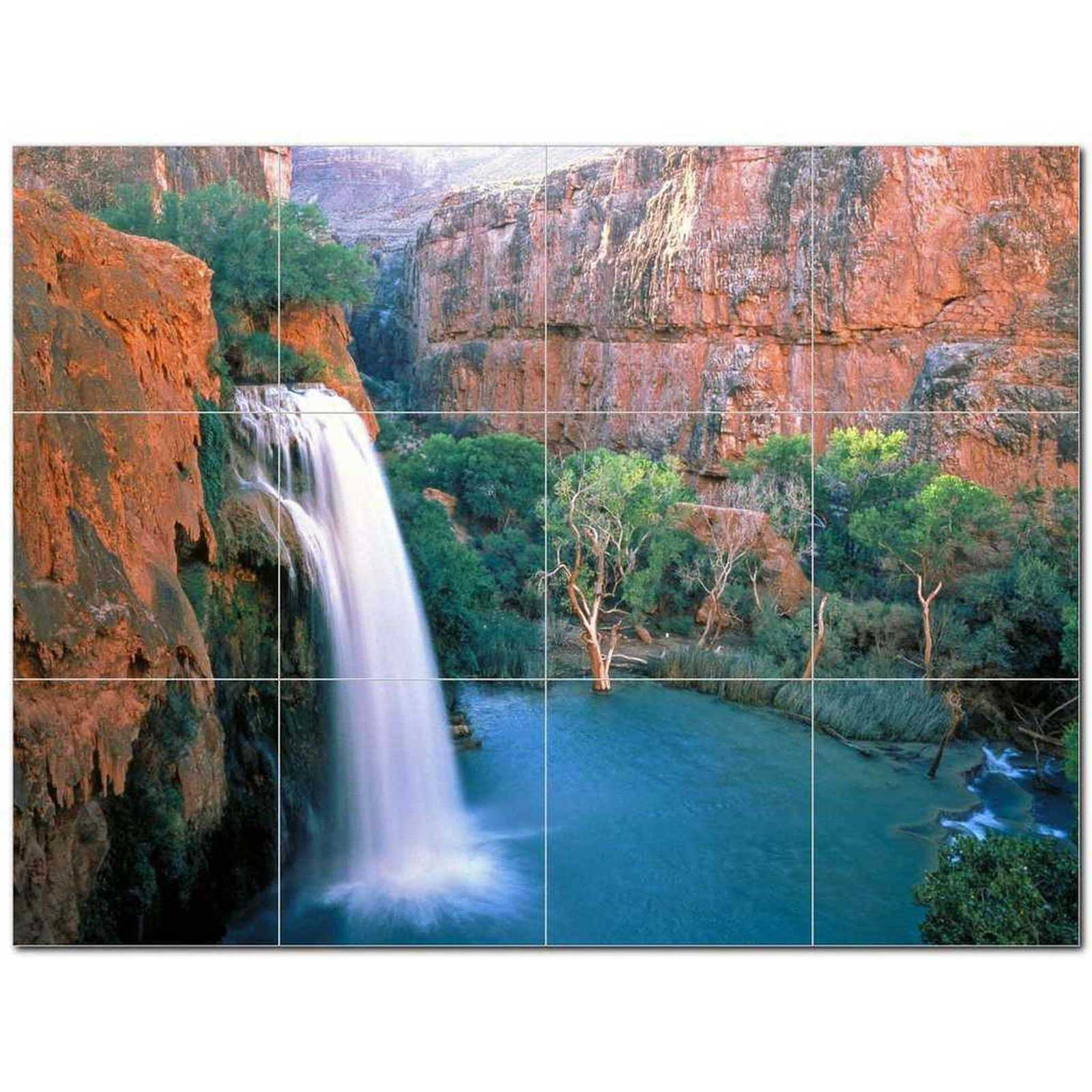 Primary image for Waterfall Photo Ceramic Tile Mural Kitchen Backsplash Bathroom Shower BAZ406109