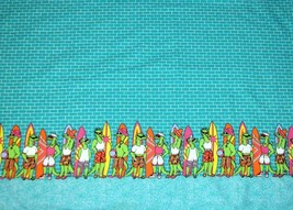 "1 Yard Whimsical Alligators Swim Trunks Surfboards Cotton Fabric OOP? 58"" W - $13.99"