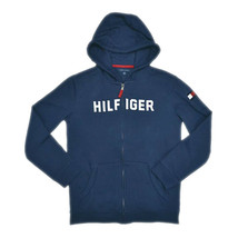 Tommy Hilfiger Girls Zip-Up Hooded Jacket Eyelet Pockets, Navy, Sz XS, 9... - $49.49