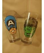 Marvel Pair Beer Glasses 16 oz. Captain American Incredible Hulk - $19.75