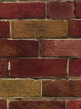 Faux Vintage Red & Tan Brick Wallpaper Norwall Wallcoverings Patton Craf... - $38.99
