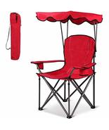 USA_BEST_SELLER Portable Folding Beach Canopy Chair with Cup Holders Fol... - $79.27