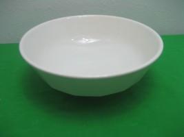 "Vintage White Milk Glass Salad Mixing Bowl 10.5"" Smooth Rim - $11.26"