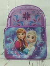 "Disney Frozen 16"" School Backpack Princess Elsa and Anna NWT Purple - $14.68"