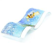 Fused Art Glass Christmas Heraldic Angel Wavy Decor Sun Catcher Handmade Ecuador image 6