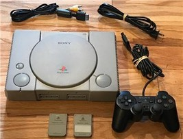 PS1 Sony PlayStation Gray Video Game Console (SCPH-5501) - $26.16