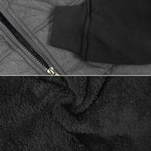 Vertical Sport Men's Sherpa Fleece Lined Two Tone Zip Up Hoodie Jacket image 4