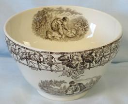 Spode Byron Cranberry Bowl HTF Black Chrildren - $54.34