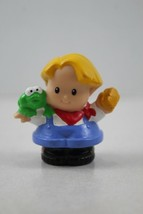 FISHER PRICE LITTLE PEOPLE Eddie with Frog and Brush - $2.47