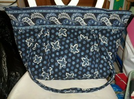 Vera Bradley Miller Bag in retired blue leaf coin pattern - EUC - $70.00