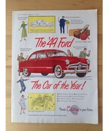 Vintage Ad 1949 FORD Car of the Year Canada Red 1948 - $9.33